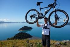 Local tourism operator Steve is on top of the world here
