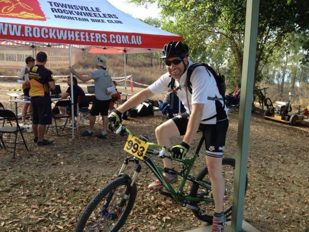 Rodney ready to ride at the start!