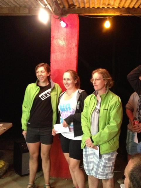 Podium Ladies! Chris & Leigh both in green from the Whitsunday MTBC