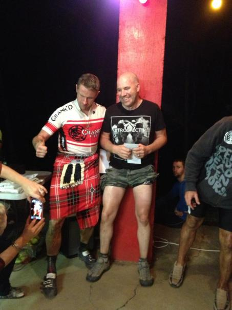 A man in the middle of a massage can only be upstaged by a man in a kilt!