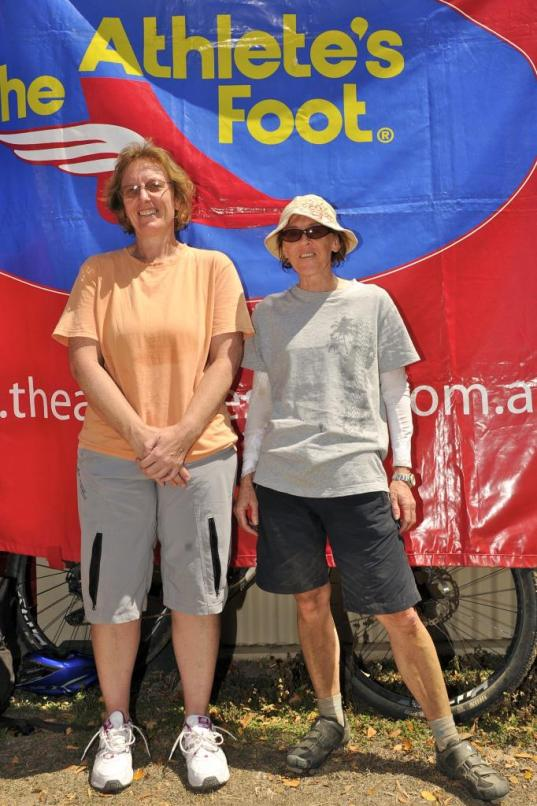 Leigh (left) takes second in Female Super Masters