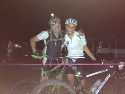 Best mates - two very happy solists' at the end of a fun, fast, flowing six hours on the track.